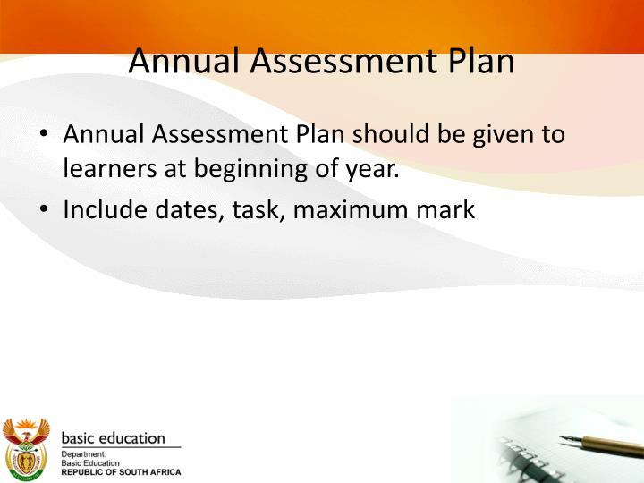 Annual Assessment Plan