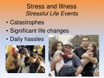 stress and illness stressful life events