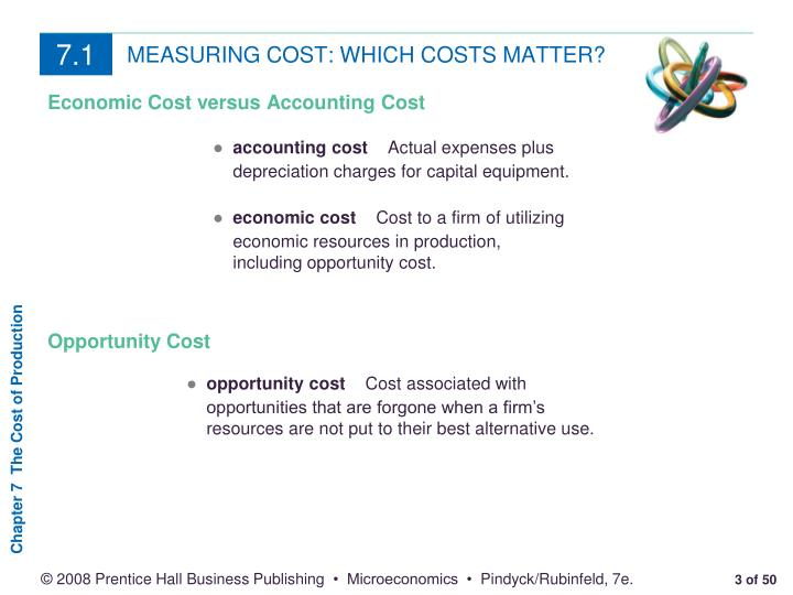 Measuring cost which costs matter