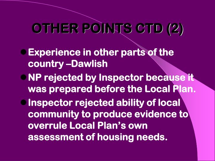 OTHER POINTS CTD (2)