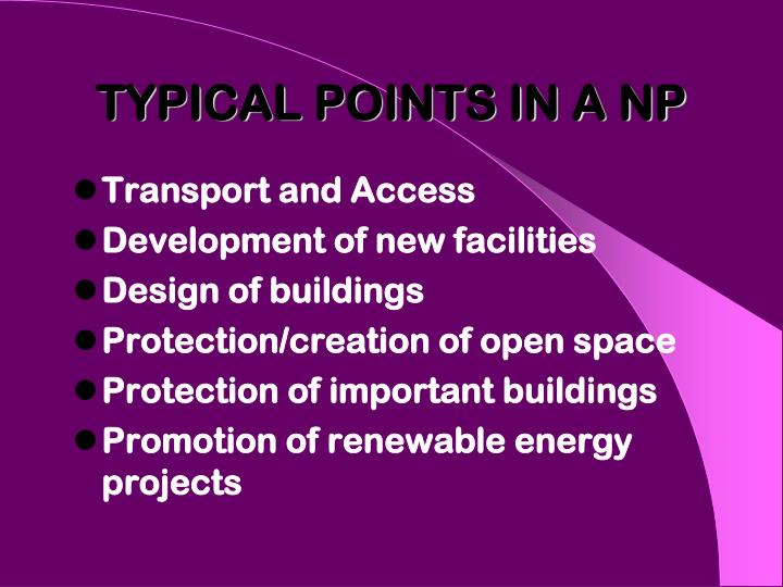 TYPICAL POINTS IN A NP