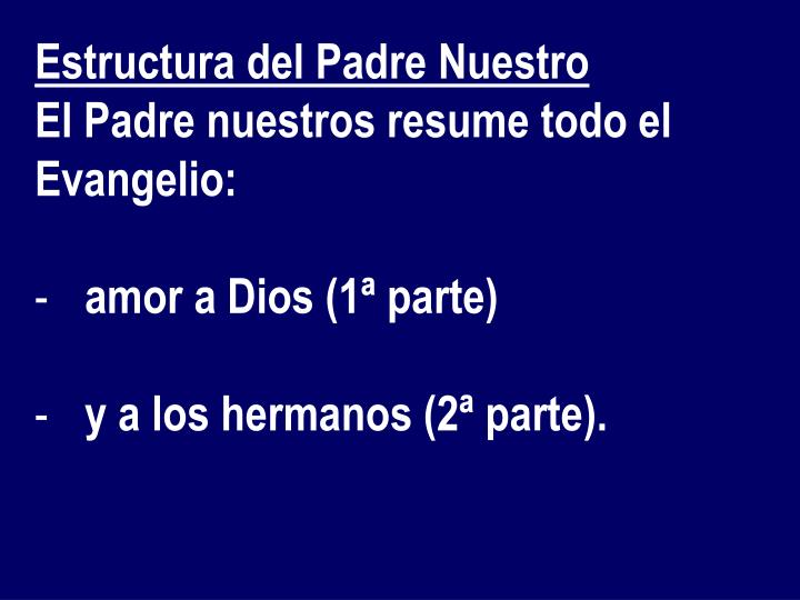 Estructura del Padre Nuestro