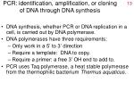 pcr identification amplification or cloning of dna through dna synthesis