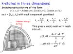 k states in three dimensions