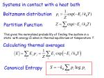 systems in contact with a heat bath