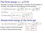 the fermi energy f t 0