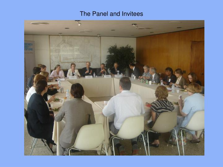 The panel and invitees