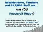 administrators teachers and all rmsa staff ask