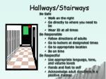 hallways stairways