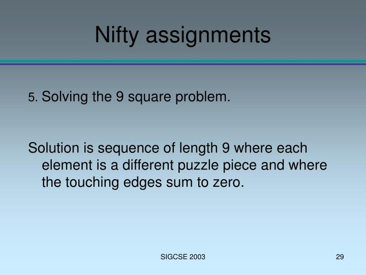 problem solving nifties