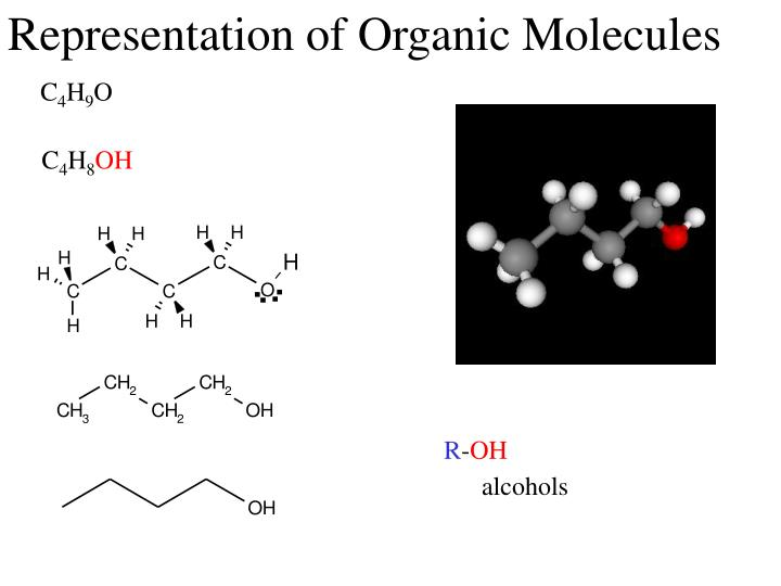 Representation of organic molecules