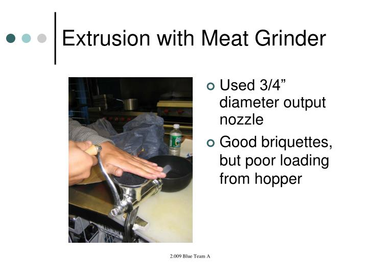 Extrusion with Meat Grinder