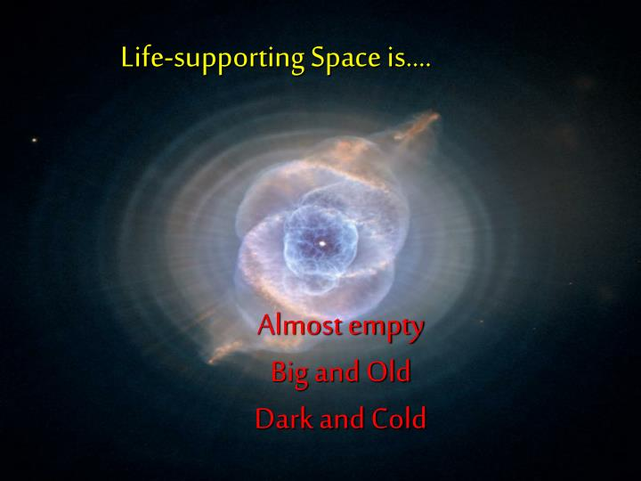 Life-supporting Space is….