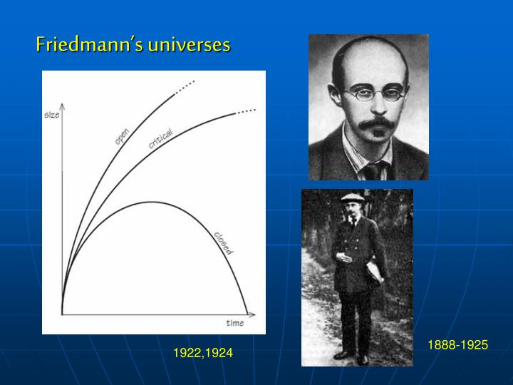Friedmann's universes