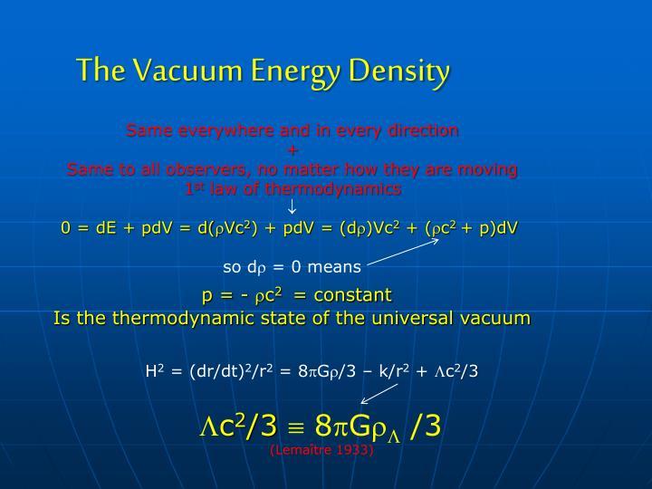 The Vacuum Energy Density