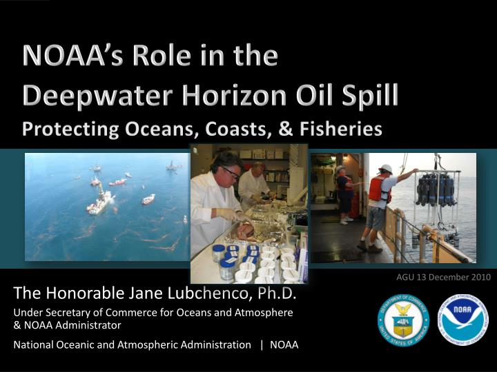 noaa s role in the deepwater horizon oil spill n.