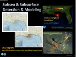 subsea subsurface detection modeling