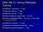 dhs 159 12 annual refresher training