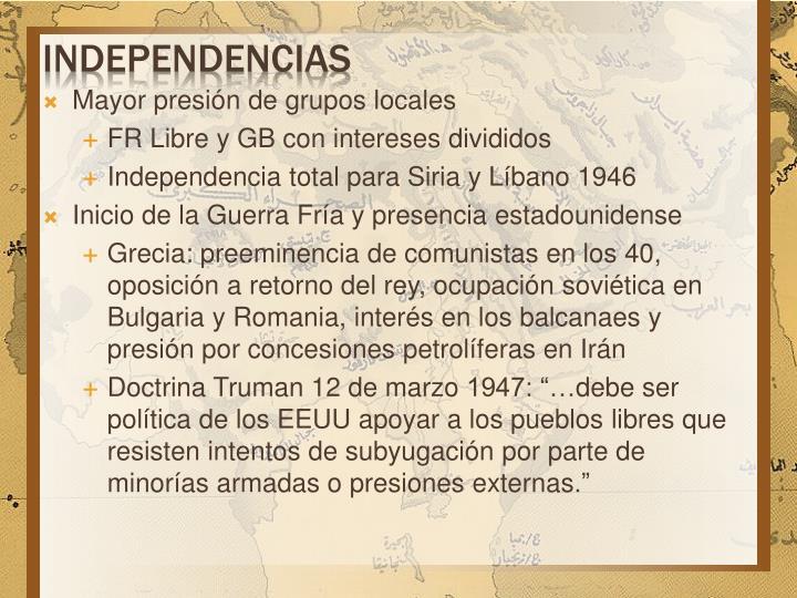 independencias