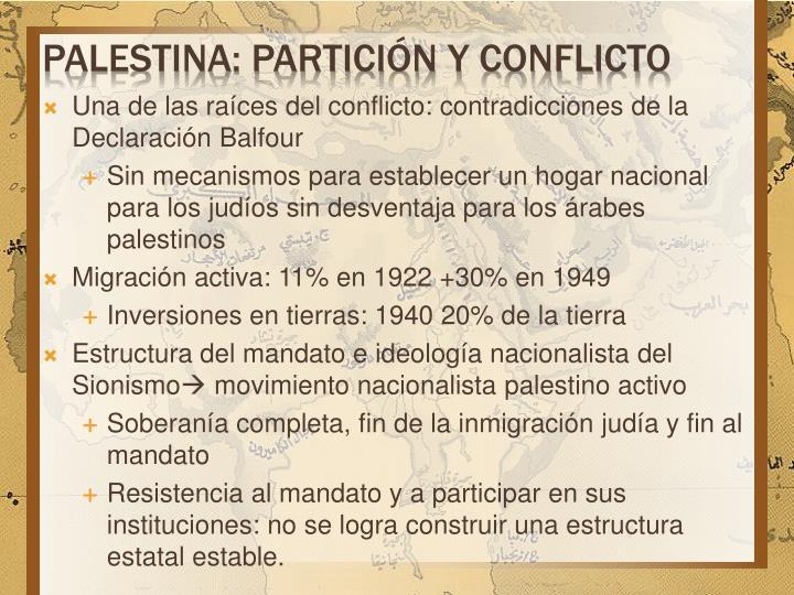 Palestina: partición y conflicto
