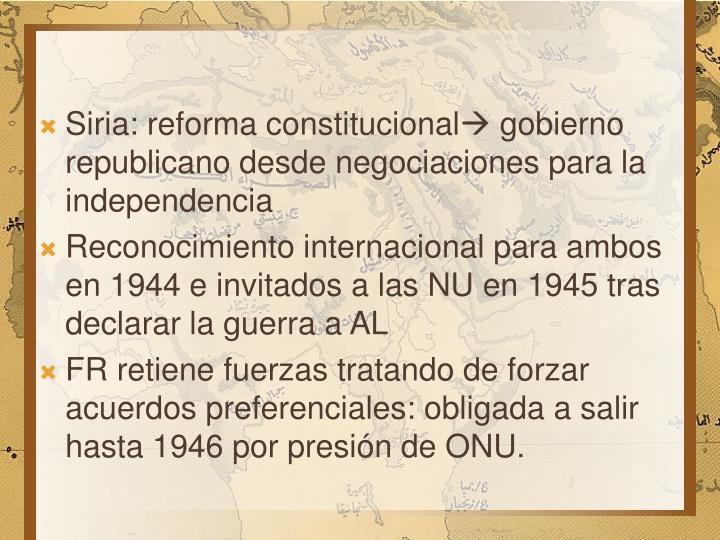 Siria: reforma constitucional