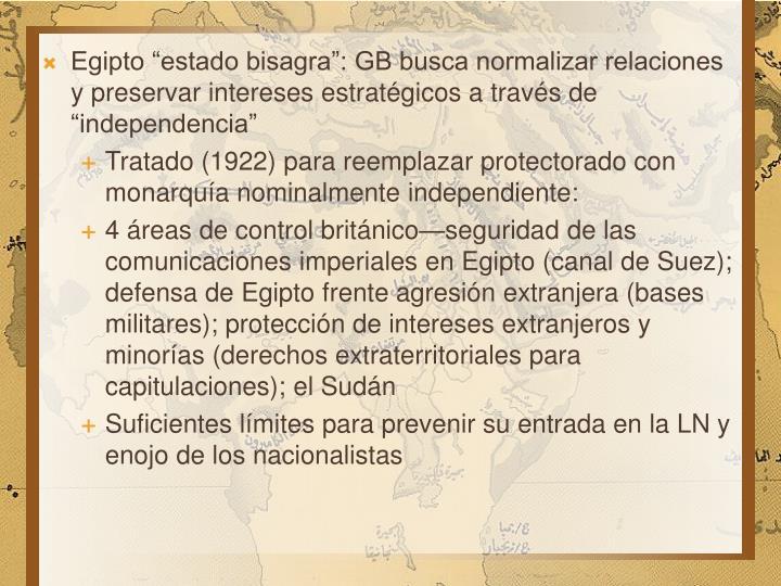 """Egipto """"estado bisagra"""": GB busca normalizar relaciones y preservar intereses estratégicos a través de """"independencia"""""""