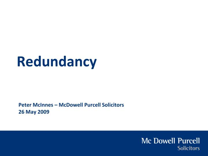 peter mcinnes mcdowell purcell solicitors 26 may 2009 n.