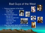 bad guys of the west