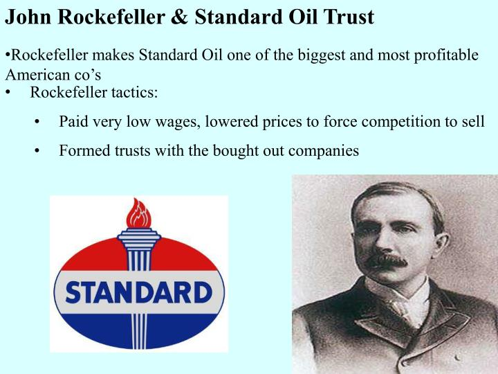john d rockefeller and the standard oil trust case 1with references to the levels and spheres of corporate power discussed in the chapter, how did the power of standard oil change society.
