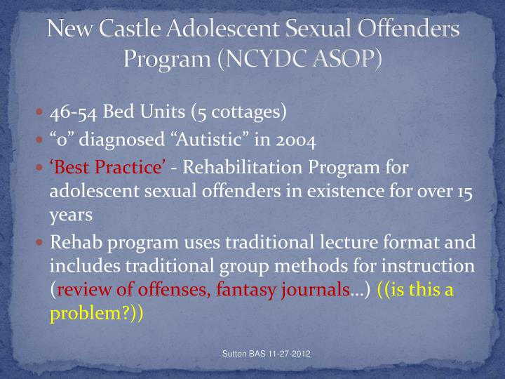 New Castle Adolescent Sexual Offenders Program (NCYDC ASOP)