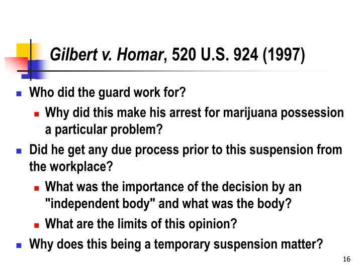 Gilbert v. Homar