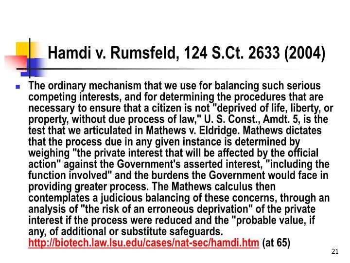 Hamdi v. Rumsfeld, 124 S.Ct. 2633 (2004)