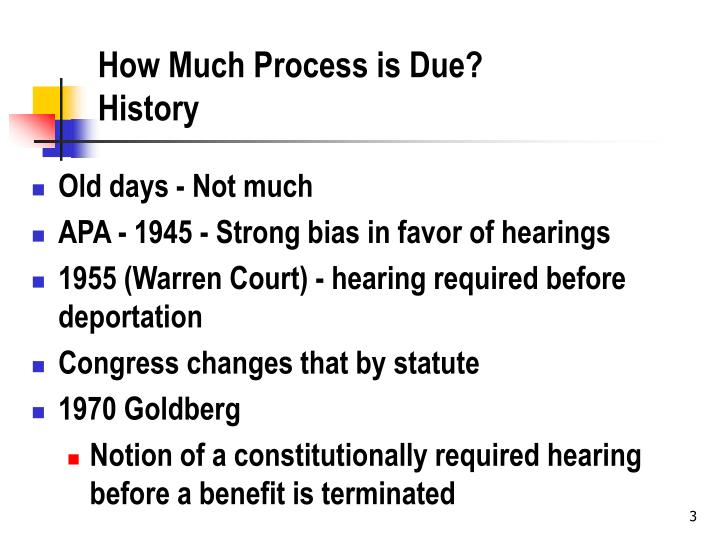 How much process is due history