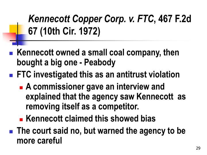 Kennecott Copper Corp. v. FTC