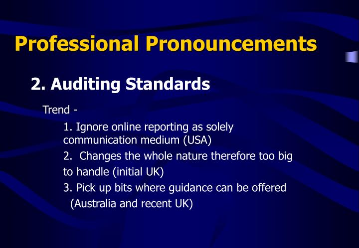 Professional Pronouncements