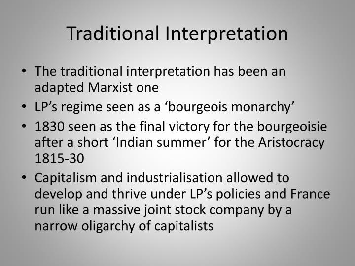 Traditional interpretation