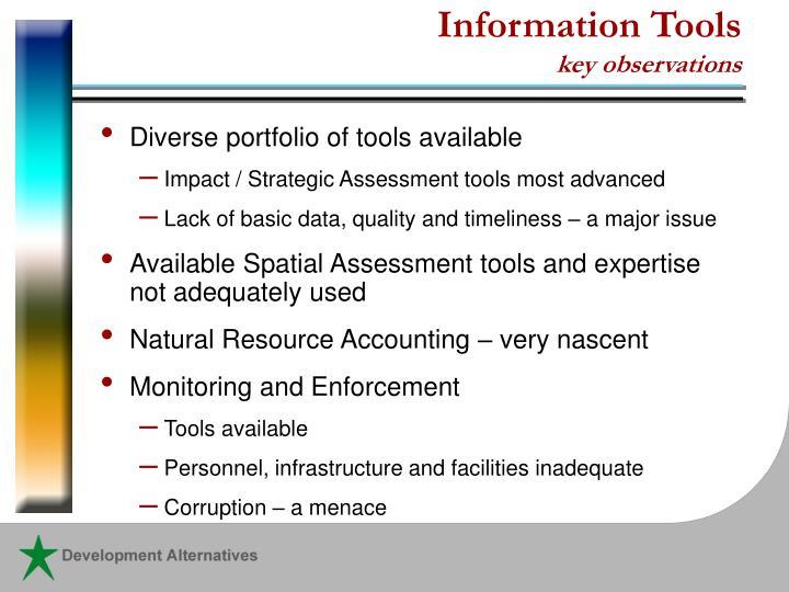 Information Tools