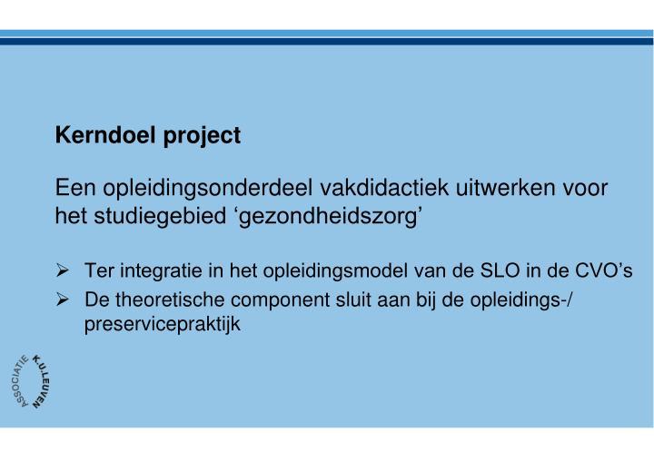 Kerndoel project