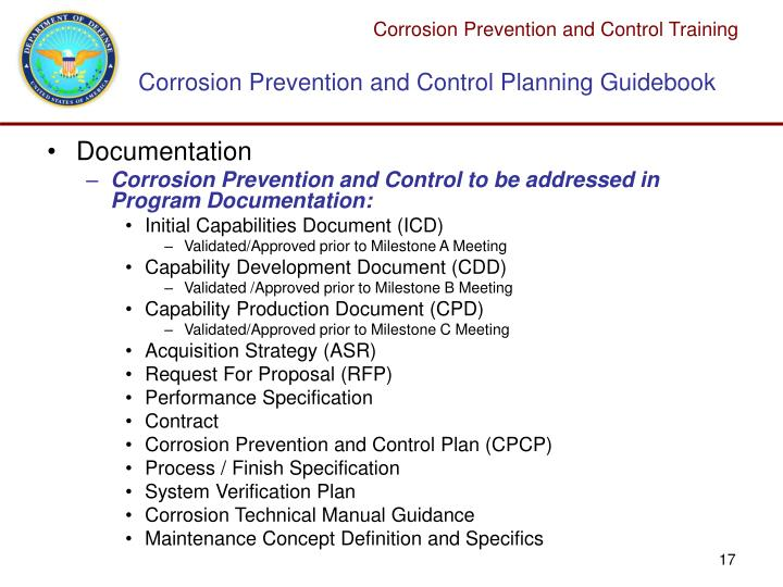 ppt dod policy for corrosion prevention and control cpc rh slideserve com Corrosion Prevention Cleveland Corrosion Prevention Cleveland