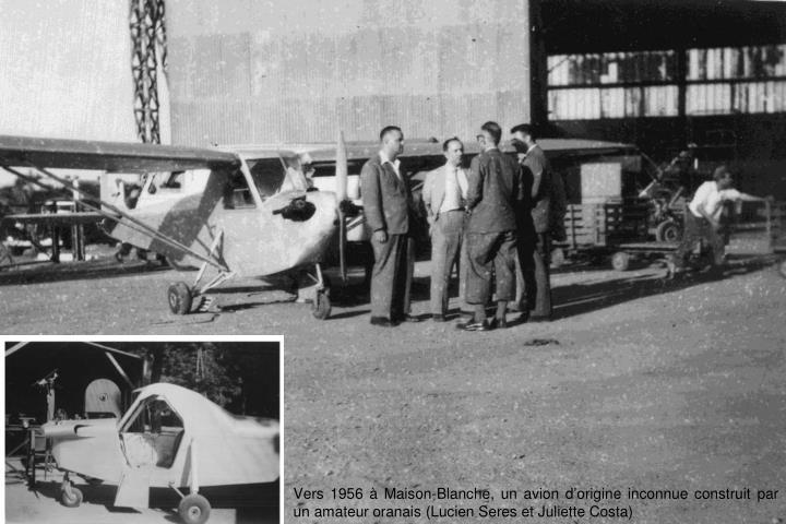 Vers 1956 à Maison-Blanche, un avion d