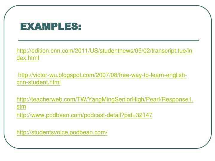 http://edition.cnn.com/2011/US/studentnews/05/02/transcript.tue/index.html