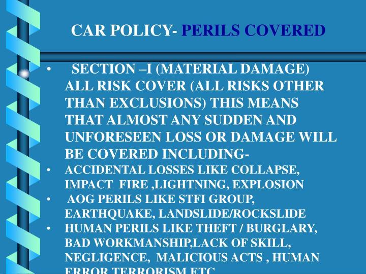 CAR POLICY-