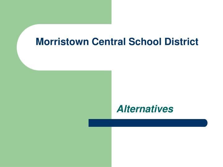 morristown central school district n.