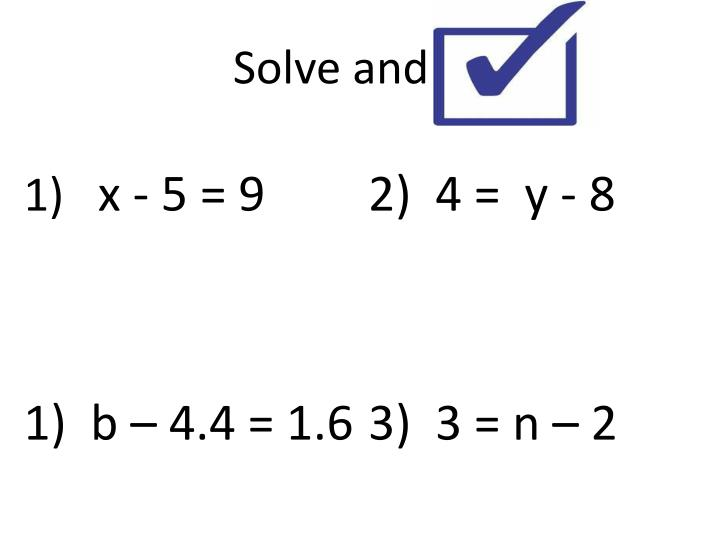 Solve and