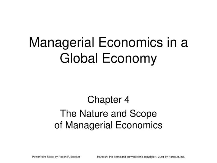 what is the meaning of managerial economics
