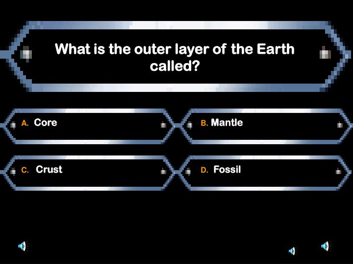 What is the outer layer of the Earth called?