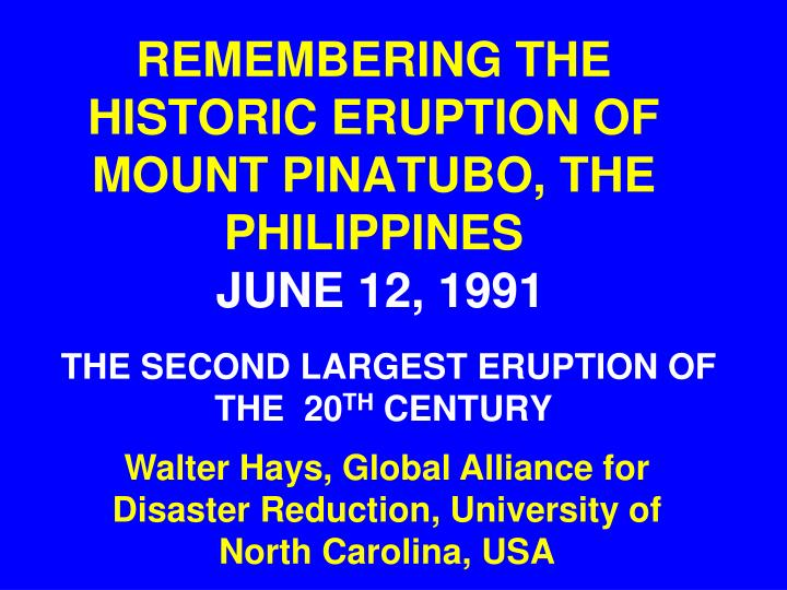 remembering the historic eruption of mount pinatubo the philippines june 12 1991 n.