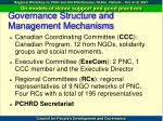 governance structure and management mechanisms1