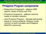 philippine program components