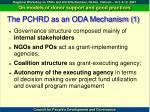 the pchrd as an oda mechanism 1